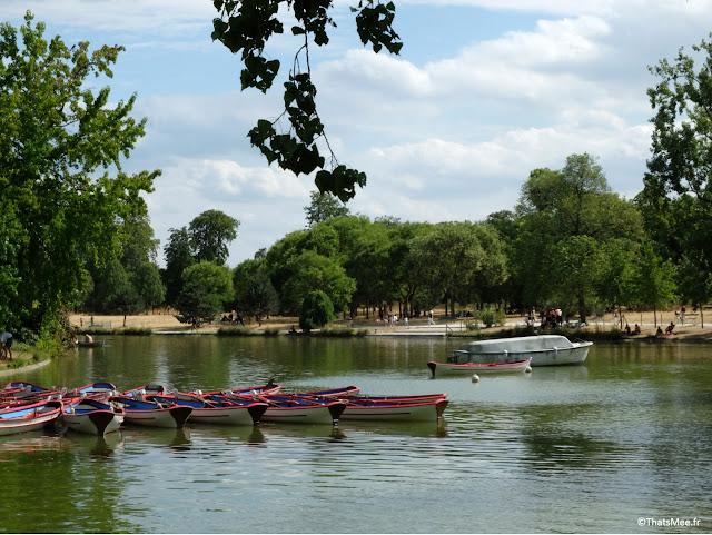 Lac Daumesnil Bois de Vincennes barques à louer rivière Paris
