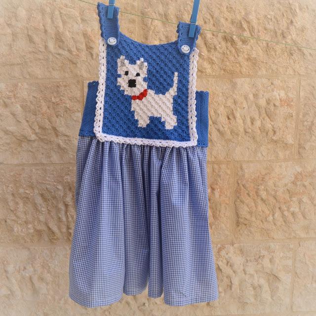 Little Puppy Blue Dress
