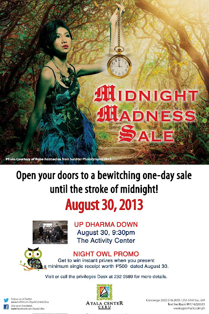Ayala Center Cebu's Midnight Sale on August 30