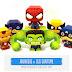 Papercraft Heróis Marvel