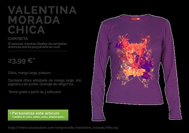 Camiseta VALENTINA MORADA CHICA