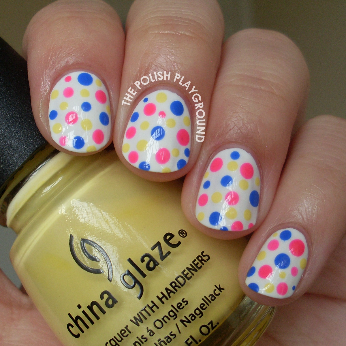 Simple and Colorful Polka Dots Nail Art