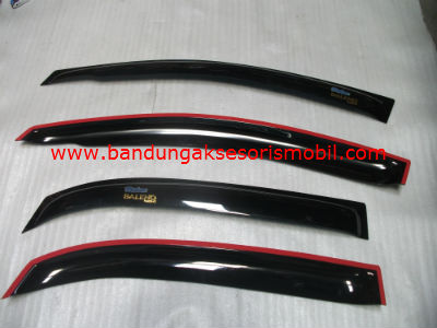 Talang Air Baleno Next-G Original Black Depan Belakang