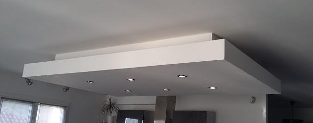 Bricolage de l 39 id e la r alisation un caisson for Accessoire plafond suspendu