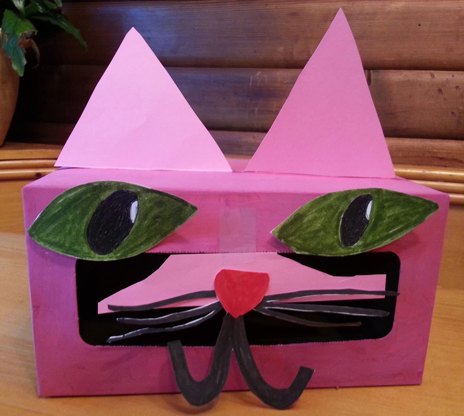 valentines box kids valentines craft green art project cat art project pink - Cat Valentine Box
