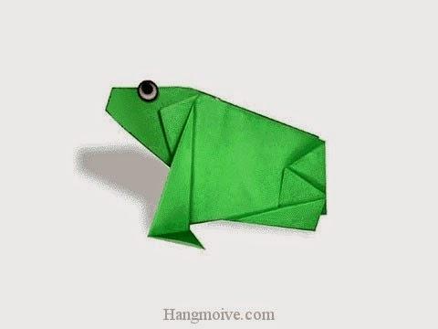 Cách gấp, xếp con ếch ngồi bằng giấy origami - Video hướng dẫn xếp hình sinh vật dưới nước - How to fold a Frog