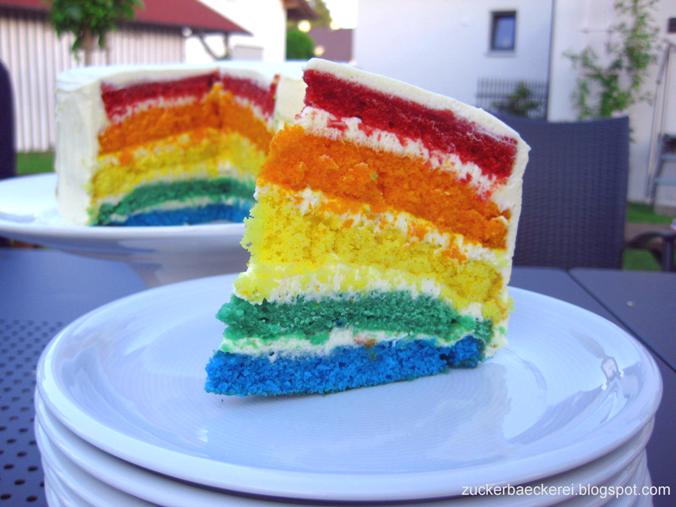 Regenbogenkuchen Zuckerbackerei
