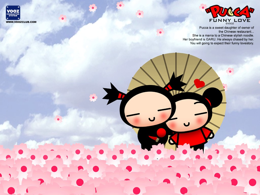 Love Kiss Wallpaper cartoon : super kuka: Papel de Parede Pucca