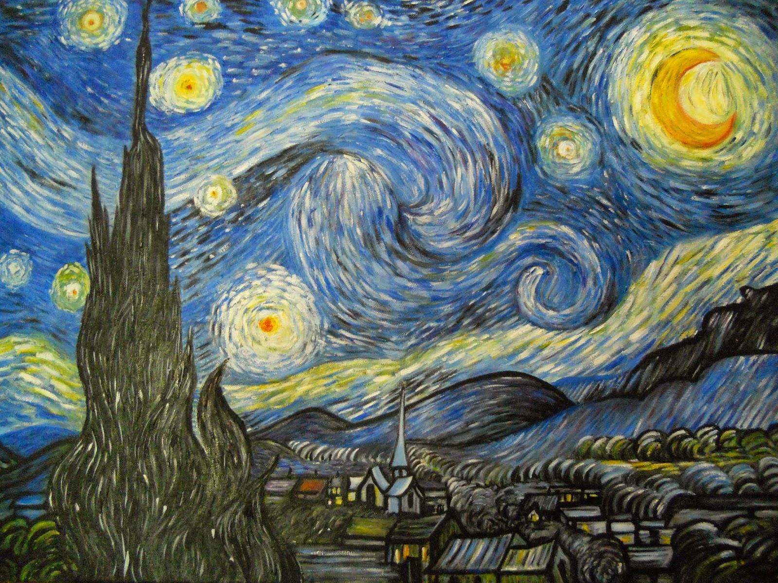 Han l style blog borse e accessori dipinti a mano notte for Dipinto di van gogh notte stellata