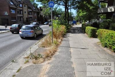 """Benutzungspflichtiger """"Radweg"""" in Hamburg"""