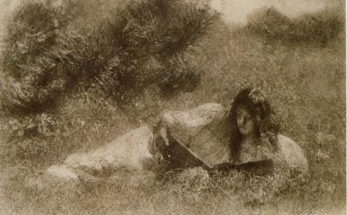 En la hierba. Impresión al óleo (1902). Demachy
