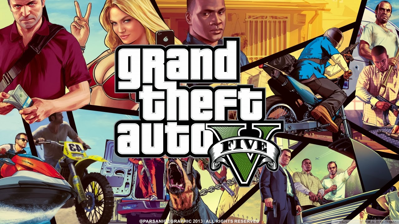 This Time I Will Share With You An Original Cover For Gta V Games This Pictures Was Used By Rockstar Gta Developer To Promote Their Game Before Its