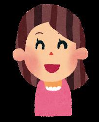 女性のイラスト「笑った顔」