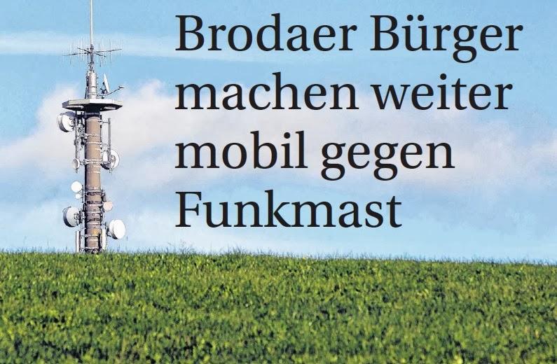 Guckt bald die Spitze eines Mobilfunkmastes über die Hügel des Brodaer Landschaftsgartens? Die Bürgerinitiative will sich jedenfalls gegen dieses Szenario wehren. FOTO: KARL-JOSEF HILDENBRAND
