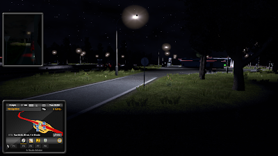 Euro Truck Simulator 2 at night
