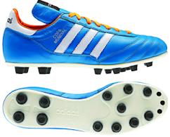 Bota adidas Copa Mundial Azul y Naranja