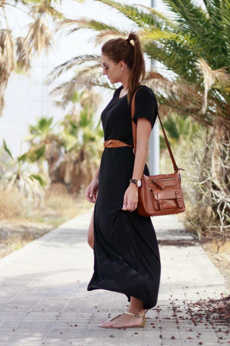 Combinar Vestido Negro Largo Casual U2013 Vestidos De Noche Populares Foto Del Sitio Blog