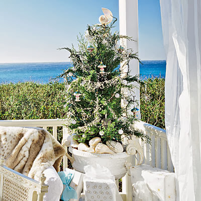 mini outdoor tree on porch - Small Outdoor Christmas Trees