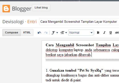 contoh screenshot,Cara Mengambil Screenshot Tampilan Layar Komputer