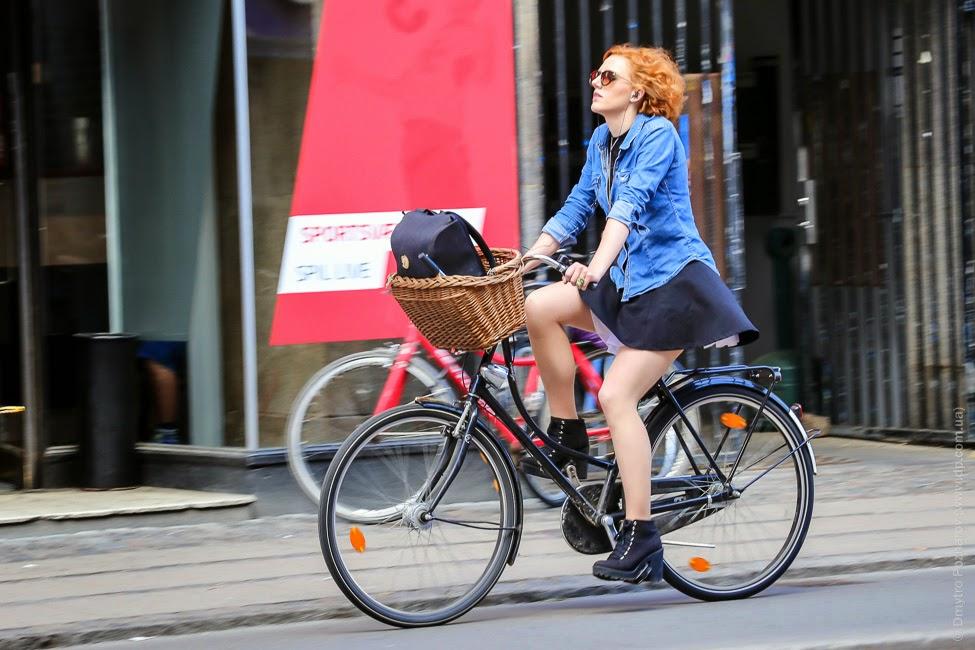 Велосипедистки в Копенгагене