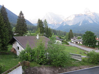 This was a typical morning view from our balcony during our stay in Ehrwald Austria