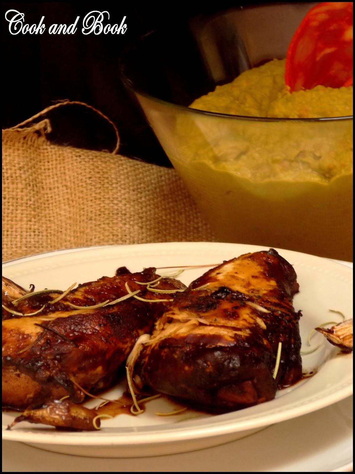 Cook and Book: Blancs de poulet au vinaigre balsamique et au romarin
