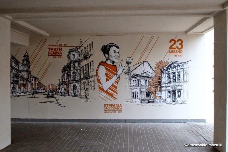 na Muranowie Warszawa murale warszawskie karmelicka solidarności ściana graffiti