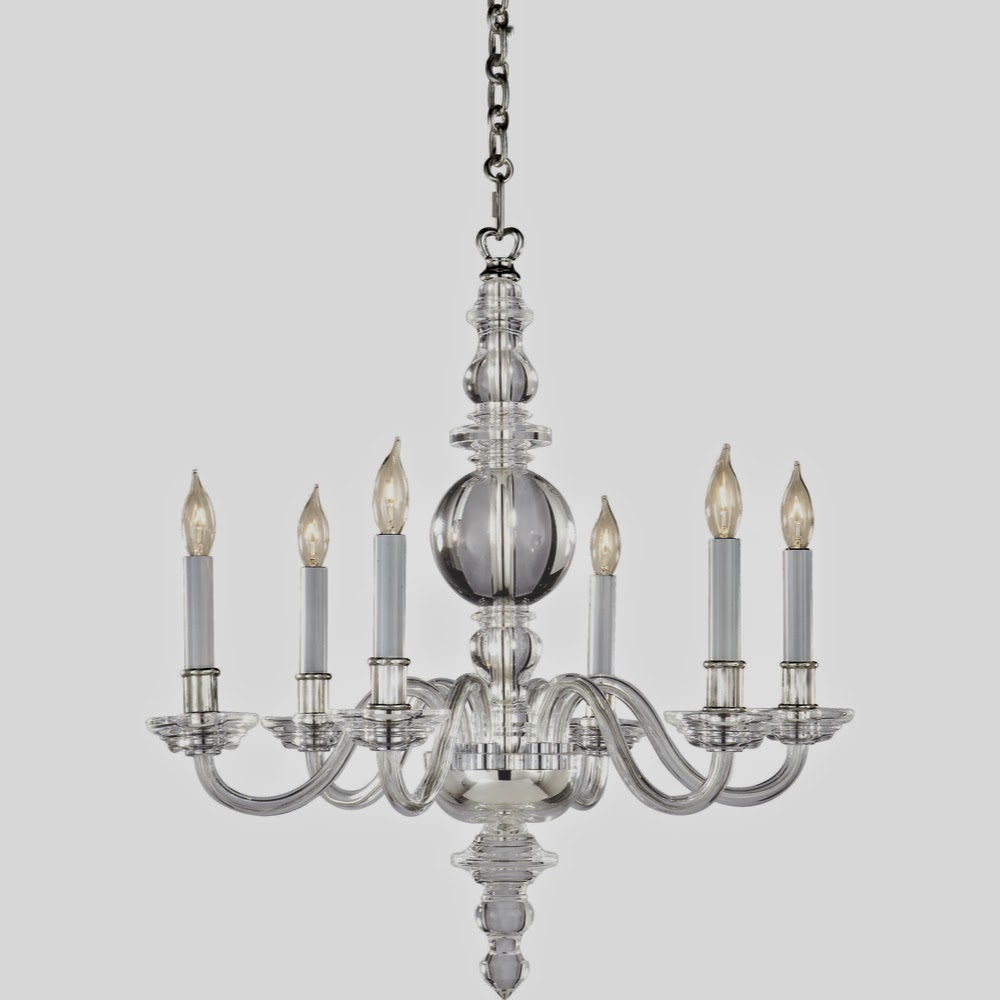 Fresh It us the George II chandelier by Visual Comfort I love it It us crystal traditional in shape but a little non traditional in that it doesn ut have