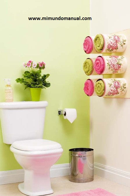 Decoracion De Baño Manualidades:DIY Bathroom Towel Storage Ideas