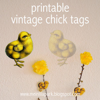 free printable vintage chick tags