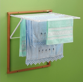 wall-mounted drying rack for towels and more