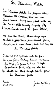 Faith, Fiction, Friends: The Most Famous Poem of World War I
