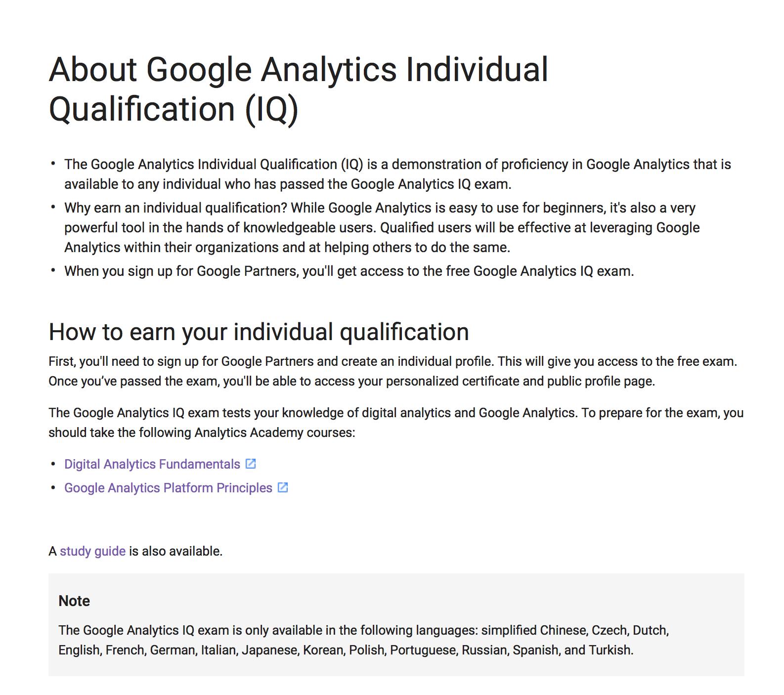 Google Analytics Certification Gaiq 2018 Study Guide 7887978