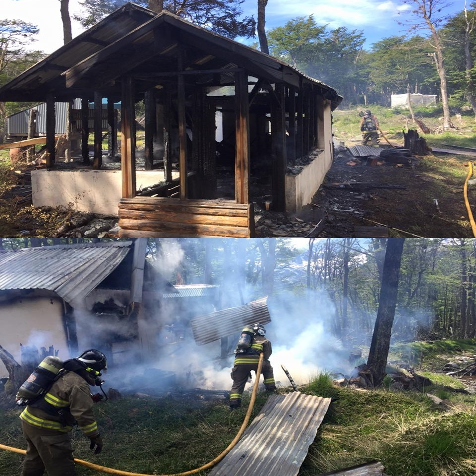 Incendio en complejo Solar del Bosque