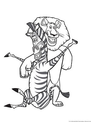 Madagascar Zebra And Lion