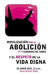 Movilización por la abolición de las corridas de toros y el respeto a la vida digna