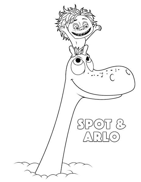 Disegni da stampare e colorare con soggetto: Il viaggio di Arlo.
