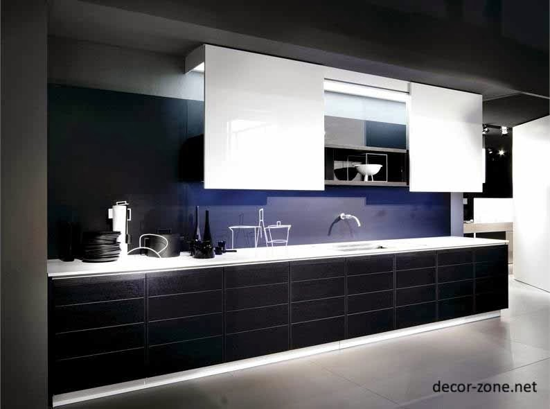 Black and white kitchen designs ideas tips for Black and white kitchen decor