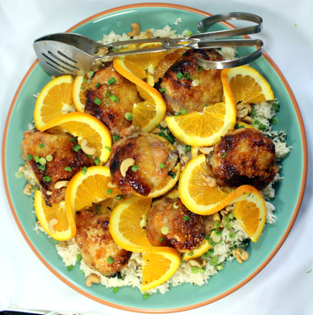 Orange Ginger Chicken: Year On The Grill: Ginger Orange Chicken With Coconut Rice