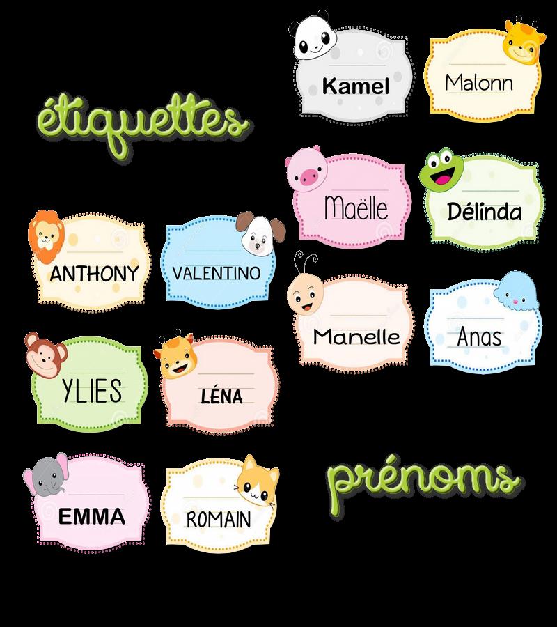 La maternelle de laur ne tiquettes pr noms animaux mignons - Etiquette prenom a imprimer ...