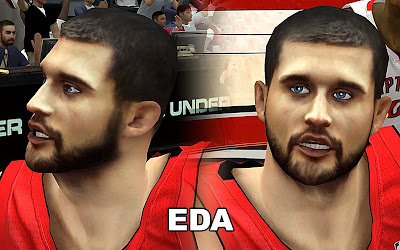 NBA 2K13 Linas Kleiza Cyberface Mod