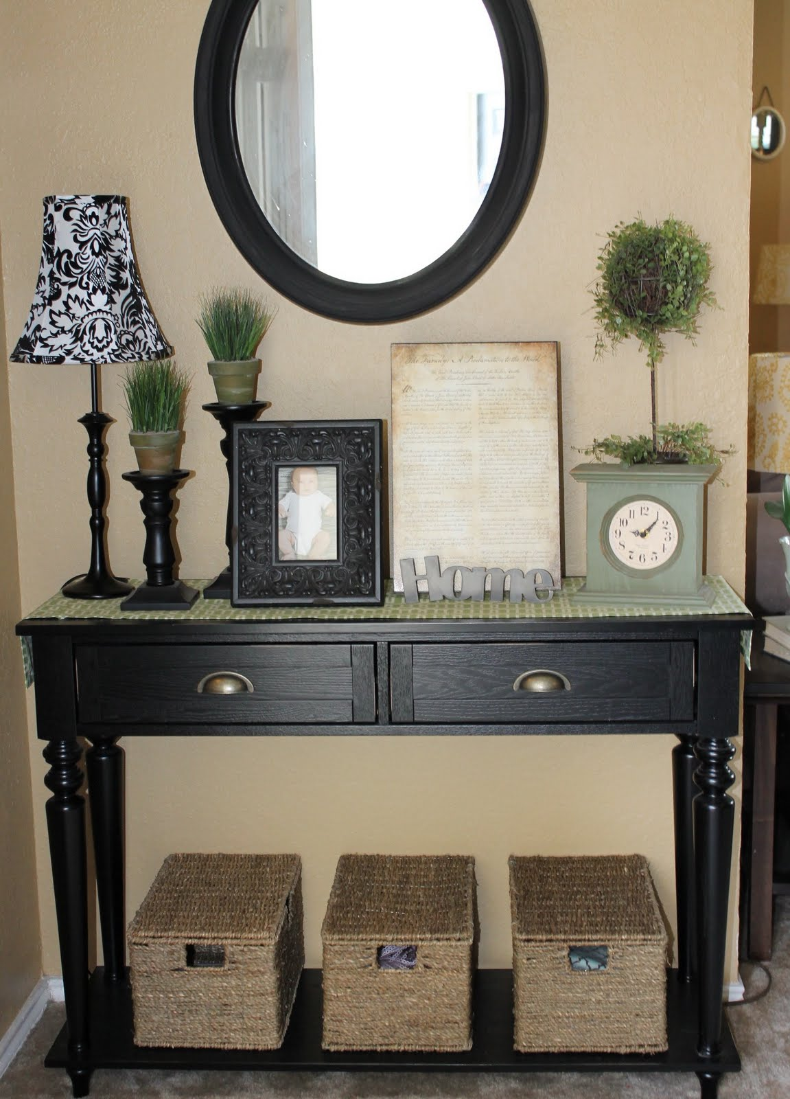 The walkers entryway table dilemma Entry table design ideas