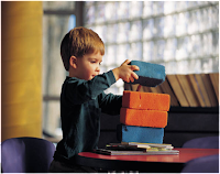 Playing with blocks in preschool