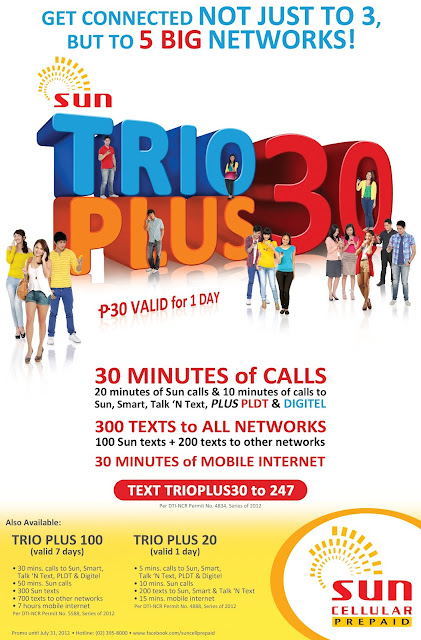 Sun Cellular Trio Plus 20 30 100