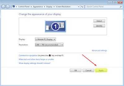 Cara Termudah Merubah Resolusi Layar Windows 7