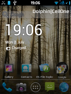 Creed Rom Fusion 3.5 Transparent ICS theme for Galaxy Y