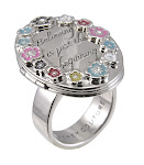 Disney Couture Jewelry ICON Believing is just the beginning Locket Ring