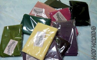 Kalau ikut hati nak beli smua kolor yang ada..hahaha