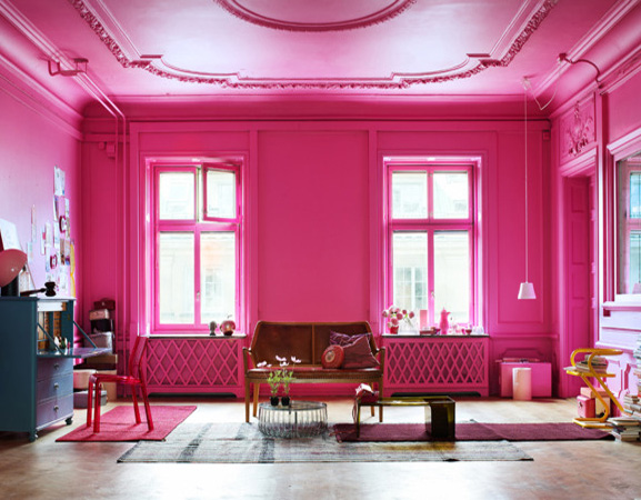 Leaves you wanting more decorating in pink for Interior design bedroom pink