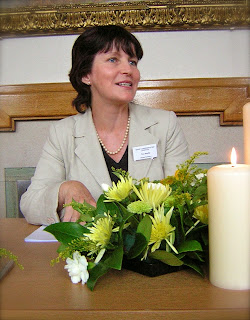 Tina Beattie flower-arranging